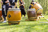 Japanese taiko drum — Stock Photo