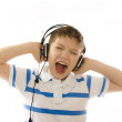 Stock Photo: Sing boy