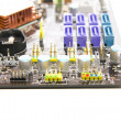 Serial AT(SATA) slots on PC motherboards — Stock Photo #8835983