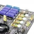 Serial ATA (SATA) slots on the PC motherboards - Stock Photo