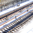Royalty-Free Stock Photo: Train tracks in winter