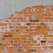 Plaster and brick wall — Stock Photo