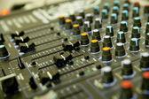 音频混音器 — 图库照片