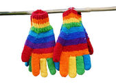 Rainbow gloves. — Stock Photo