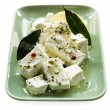 Marinated Feta Cheese with Bay Leaves — Stock Photo #10091307