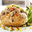 Baked Potato with Tuna — Stock Photo