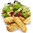 Fish Fillets and Salad — Stock Photo #10091460