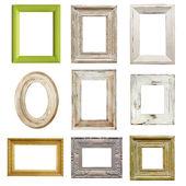Colección de marcos angustiado — Foto de Stock