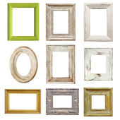 Collection of Distressed Picture Frames — 图库照片