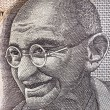Gandhi on Indian Rupee Note — Stock Photo