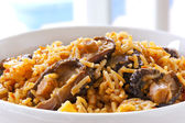 Rice with Shitake Mushrooms. — Stock Photo