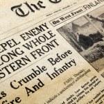 Wartime Newspaper — Stock Photo