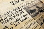 Oorlogstijd krant — Foto de Stock