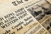 Wartime Newspaper — Stock Photo