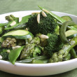 Sauteed Green Vegetables - Stock Photo