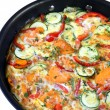 Vegetable Frittata in Frying Pan - Stock Photo
