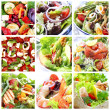 Salads Collage — Stock Photo