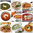 Soups Collage — Stock Photo