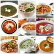 Soups Collage - Stock Photo