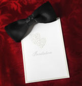 Black Tie Invitation — Stock Photo