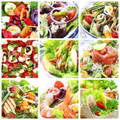 Salate-collage — Stockfoto