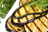 Gegrilde aubergine segmenten — Stockfoto