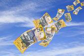 Money Falling from Sky — Stock Photo