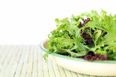 Bowl of Salad Leaves with White Background — Stock Photo