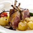 Rack of Lamb Dinner — 图库照片