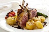 Rack of Lamb Dinner — Stock Photo