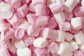 Pink and White Marshmallows Full Frame — Stock Photo
