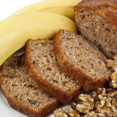Banana and Walnut Bread — Stock Photo
