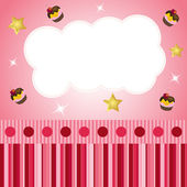 Pink scrap background with cloud — Stock Vector