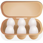 Eggs in container — Stock Vector