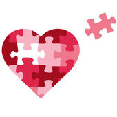 Puzzle heart icon — Stock Vector