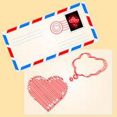 Love letter for valentine — Stock Vector