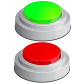 Help icon with red and green buttons — Stock Vector