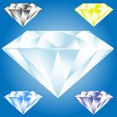 Illustration vectorielle de l'icône de diamant — Vecteur