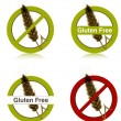 Stock Vector: Gluten free diet icons