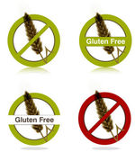 Gluten free diet icons — Stock Vector