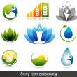 Health and nature icons — Stockvectorbeeld
