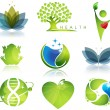 Stock Vector: Wellness and ecology symbols
