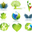 Wellness and ecology symbols — Stock Vector
