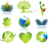 Symboles de bien-être et écologie — Vecteur