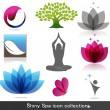 Spa icon collection - Stock Vector