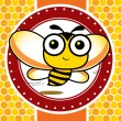 Happy bee — Stock Vector #10249086