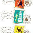 Landmarks stamps set — Stock Vector #8989530