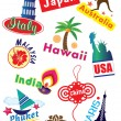 Stock Vector: Travel Sticker
