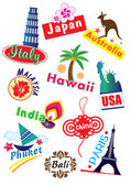 Travel Sticker — Stock Vector
