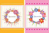 Flower Card Design — Vettoriale Stock